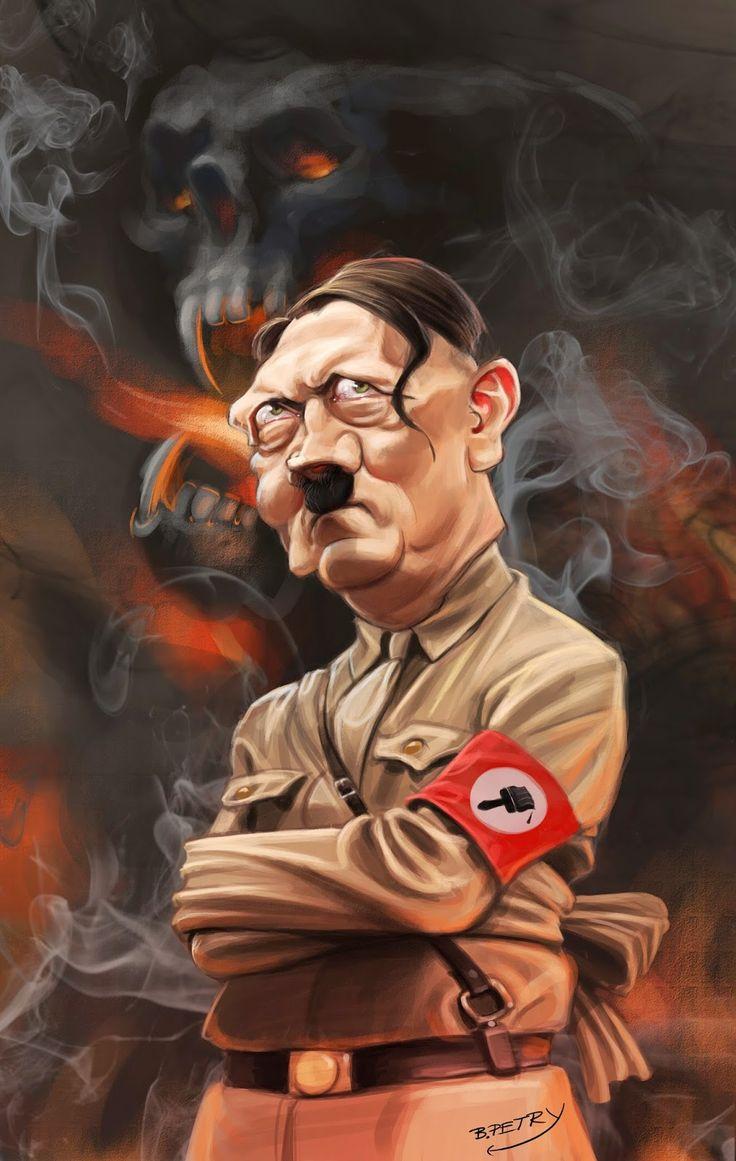 Adolf+Hitler,+caricature..jpg 1.014×1.600 Pixel Si asi es por fuera, peor por dentro