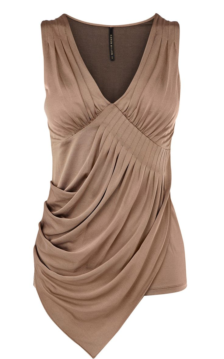 Asymmetric ruched top - LOVE this! Just not the color.