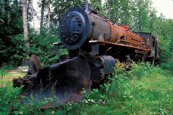Old locomotive in Skagway