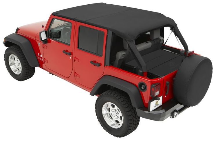 Bestop® Header Safari Bikini® Tops for 07-09 Jeep® Wrangler Unlimited JK 4 Door