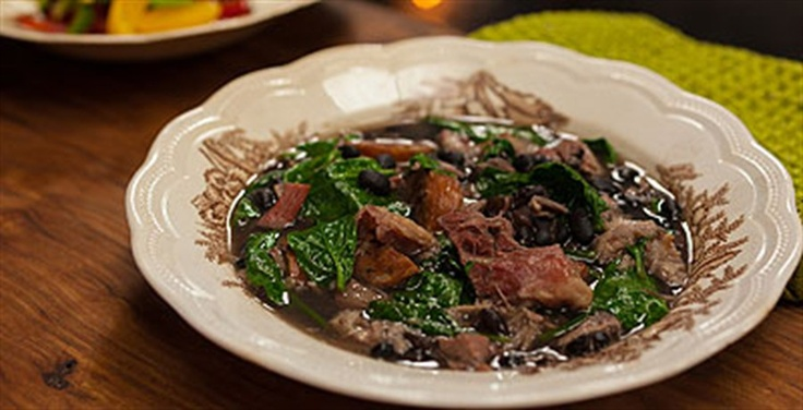 Feijoada, a Brazilian slow cooked stew, packed full of black beans, five types of meat and loads of flavour.