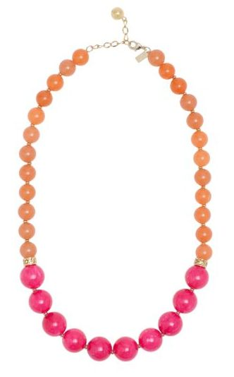 Pink and orange necklace from Kate Spade.