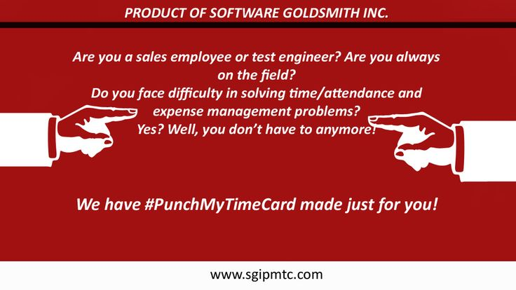Are you a sales employee or test engineer? Are you always on the field? Do you face difficulty in solving time/attendance and expense management problems? Yes? Well, you don't have to anymore! We have #PunchMyTimeCard made just for you! Try it before you deny it… Go for the free trial here: https://www.sgipmtc.com/Trial/