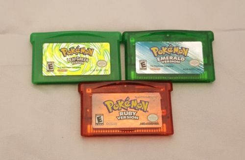 Pokemon Ruby Emerald and LeafGreen Version Nintendo GBA Authentic Original Games: $59.95 End Date: Thursday Sep-21-2017 23:50:27 PDT Buy It…