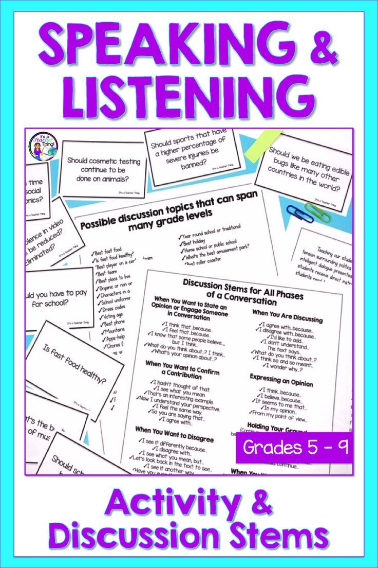 You Ll Love This Engaging Speaking And Listening Activity That S Perfect For Building Classroo Middle School Lessons Teaching Middle School Classroom Community [ 1104 x 736 Pixel ]