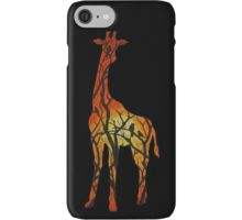 Sunset Giraffe iPhone Case/Skin by I Love the Quirky