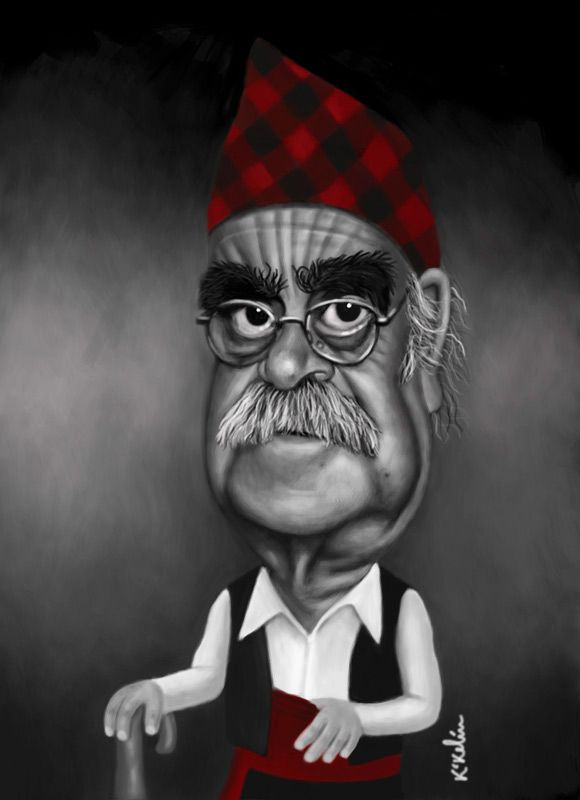 Caricatura de José Antonio Labordeta