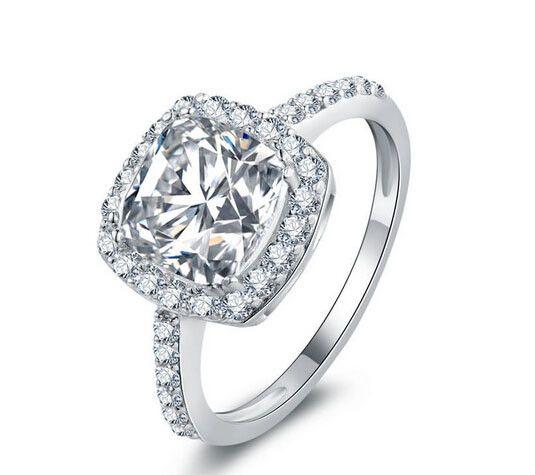 Cushion cut fashion diamond wedding ring