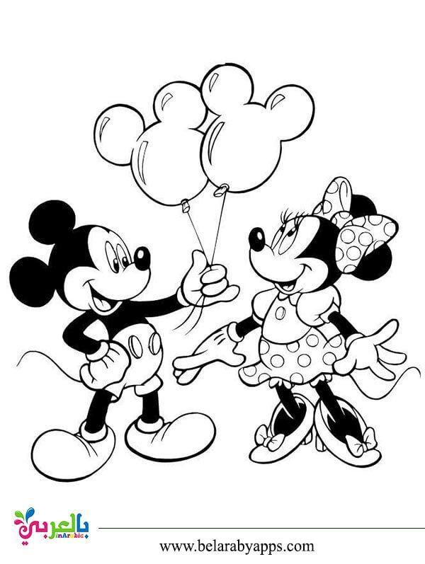 رسومات شخصيات ديزني للتلوين ميكي ماوس بندق بطوط بالعربي نتعلم Mickey Mouse Coloring Pages Minnie Mouse Coloring Pages Disney Coloring Pages