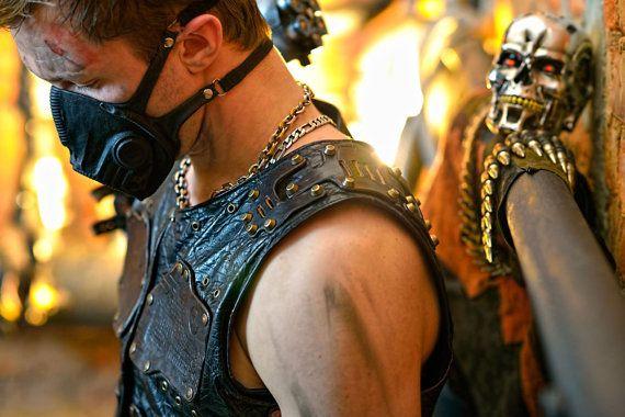 Post-apocalyptische mannen lederen vest 'Apocalypse door Atomfashion