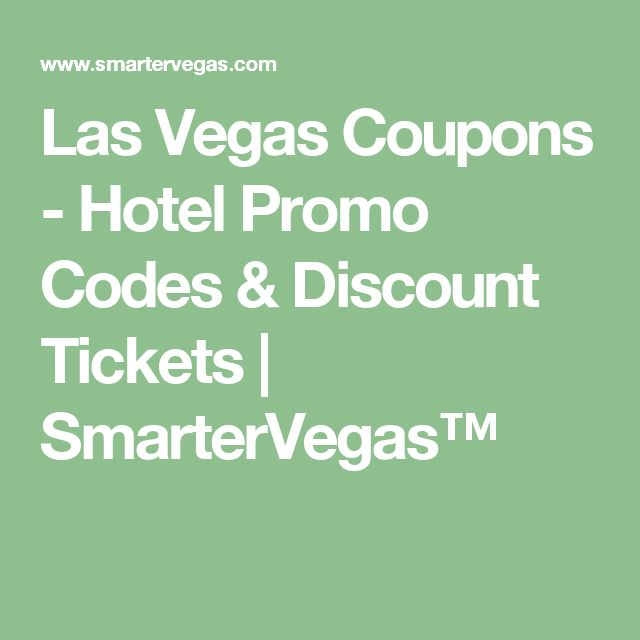 Vegas discounts and coupons 2019