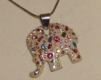 Acquerello originale elefante con modelli di di HypnoticPeacock