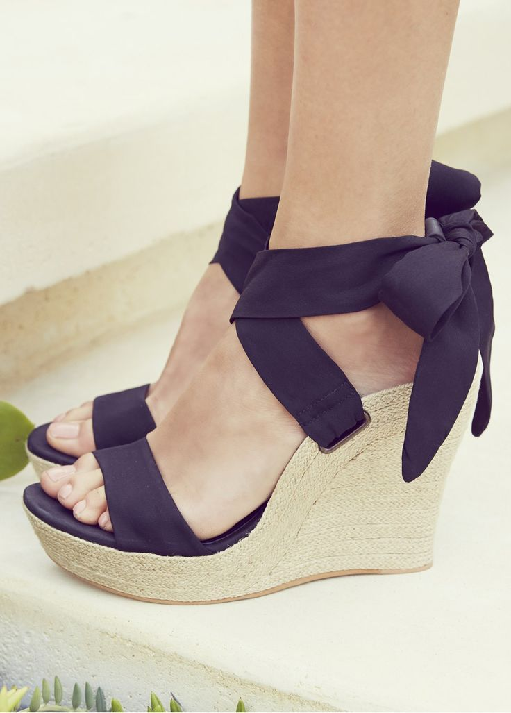 Ankle Strap Wedges #fashion