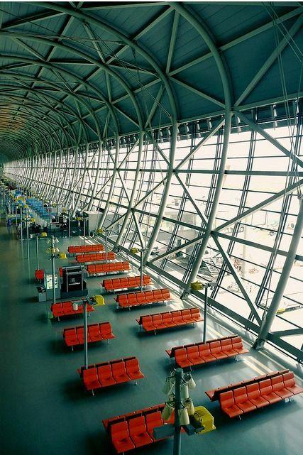 Red Chairs - Kansai Airport in Osaka, Japan