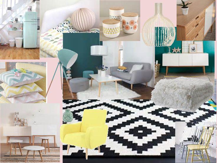 17 meilleures images propos de id es d co salon et salle manger sur pinterest pastel. Black Bedroom Furniture Sets. Home Design Ideas