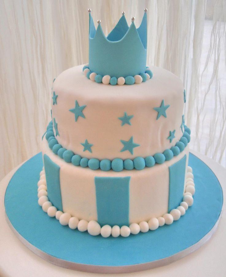 Baby Prince Crown Cake
