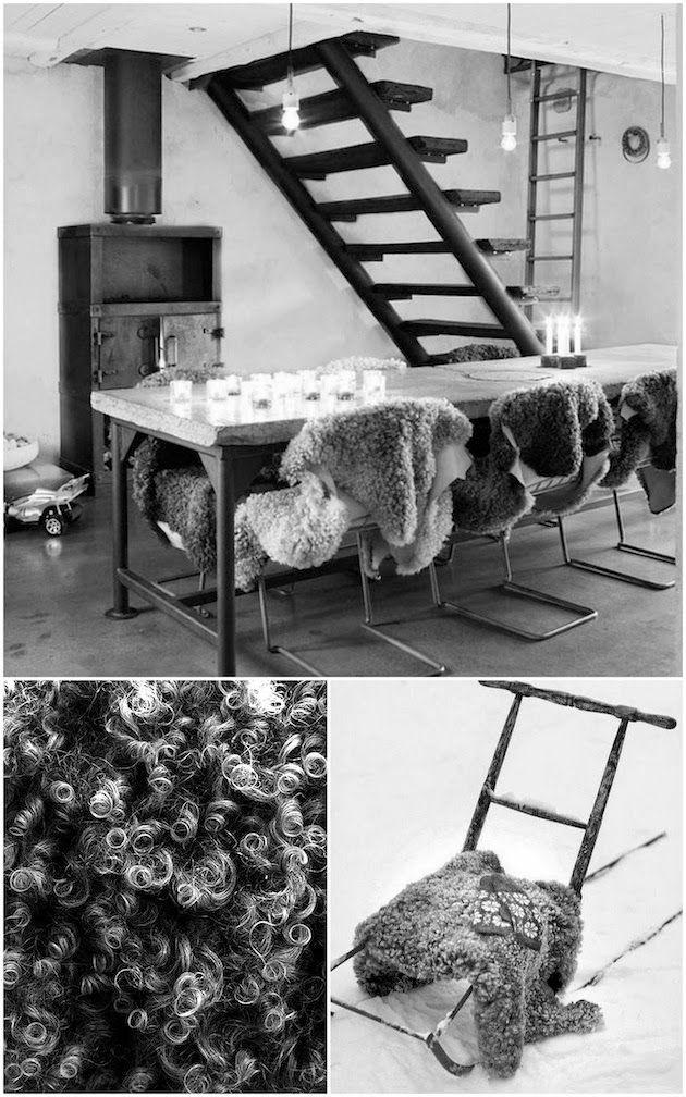 Sheep skins from Gotland, Sweden.  WABI SABI Scandinavia - Design, Art and DIY.