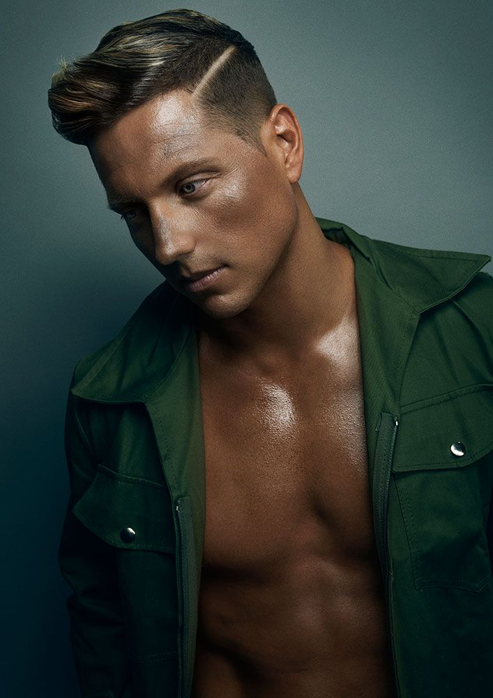 Rugged Men in camouflage gear is the name of the game in this #hair collection by Rokstar Salonz's Brodie-Lee Stubbins.
