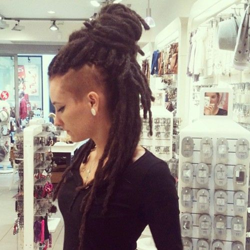 sowickedtrendy: Dreads :) #dreads #shavedhair #sidecut (Taken with ...