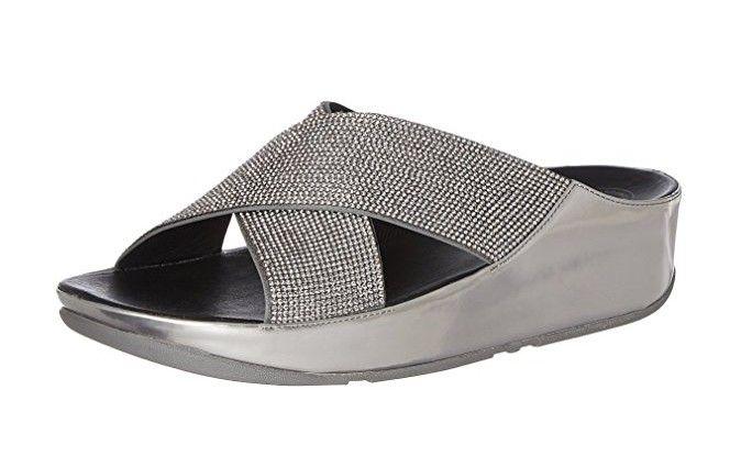 #FitFlop Fitness Schuhe - Pewter, slide, mit Microkristallen.