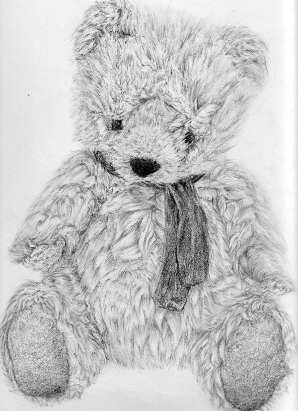 10  Lovely Teddy Bear Drawings for Inspiration, http://hative.com/teddy-bear-drawings/, this is the best teddy bear drawing i have ever seen...when i 1st saw it i honestly thought it was a photo