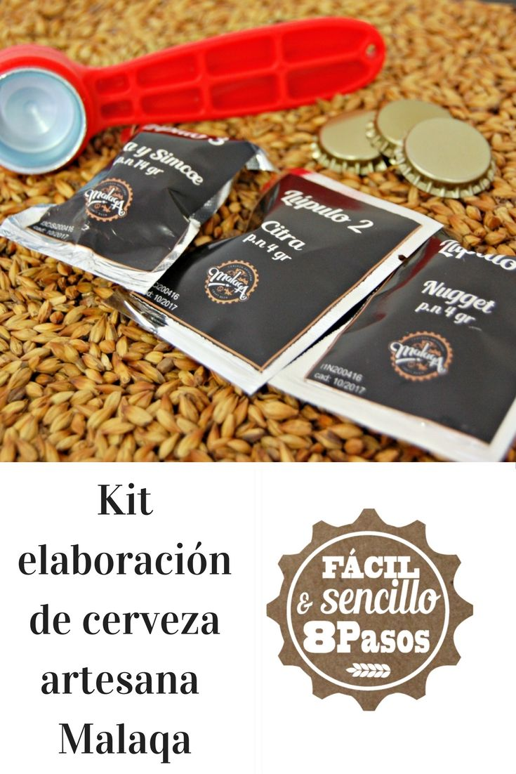 Con el kit Kernel Panic de #Malaqa podrás elaborar hasta 5 litros de #cerveza en casa. Make your own #beer with this Malaqa home brewing kit. Best craft beer.