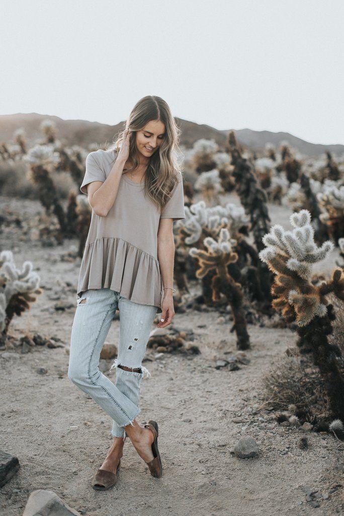6f4600a34ab7ba Sand Dune Ladies Peplum // Jax & Lennon Co Ethical Clothing, Slow Fashion,