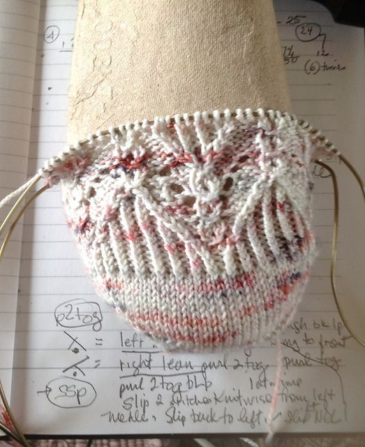 Ravelry: Deco Meets Nouveau Toe Up Sock pattern by S. L. Myers
