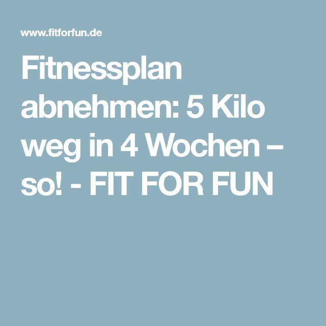 Fitnessplan abnehmen: 5 Kilo weg in 4 Wochen – so! - FIT FOR FUN