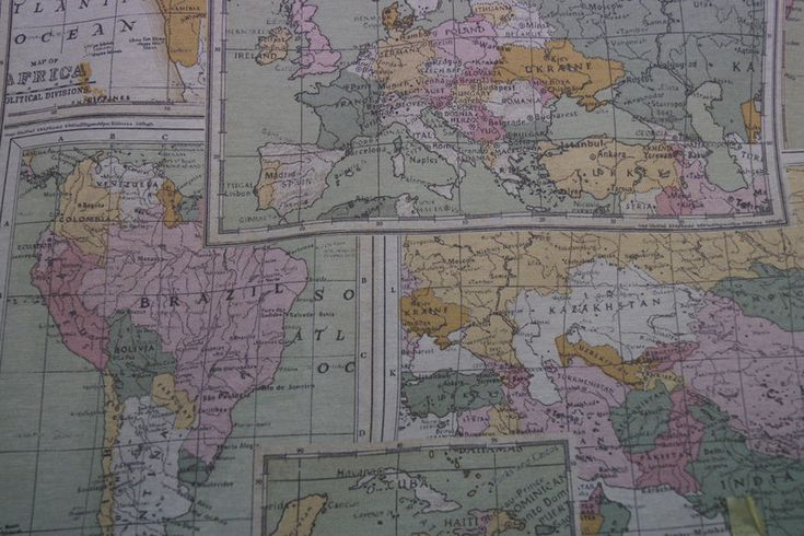 Interieurstof Landkaart