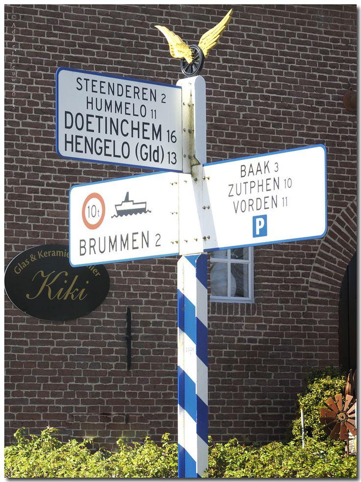 Oude ANWB Wegwijzer, Bronckhorst, Gelderland.