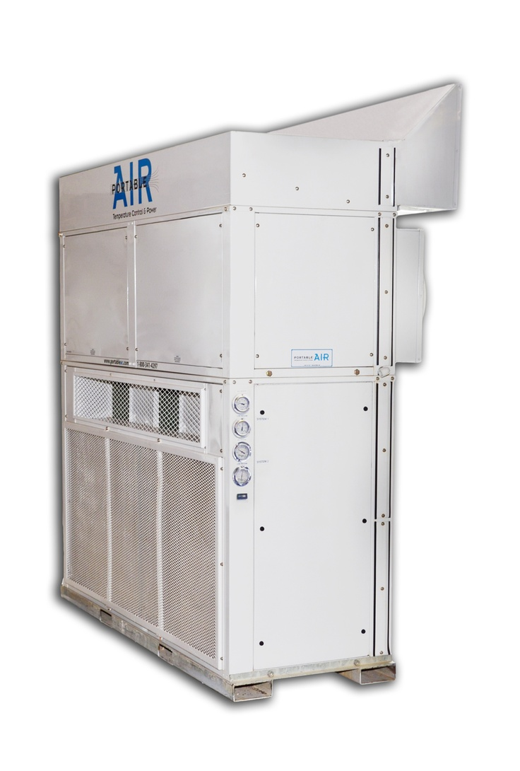 Portable AIR 20 Ton Vertical Package Unit with Plenums