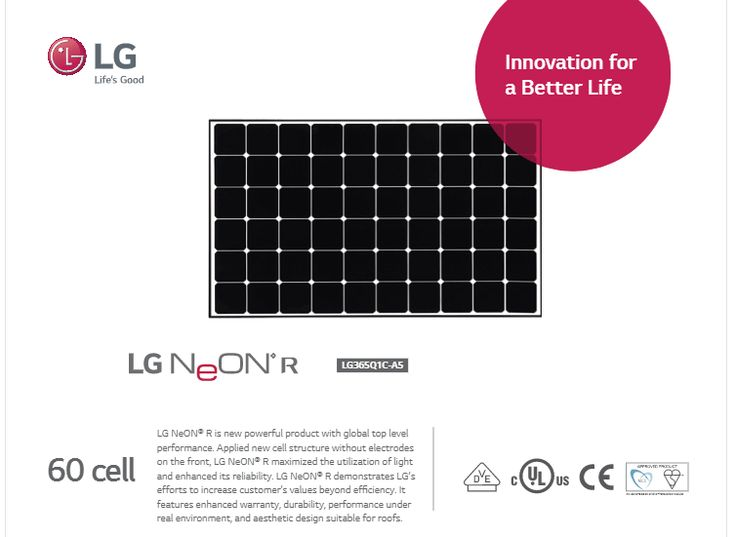 LG Electronics USA Launches Two New Residential Solar Panel Products