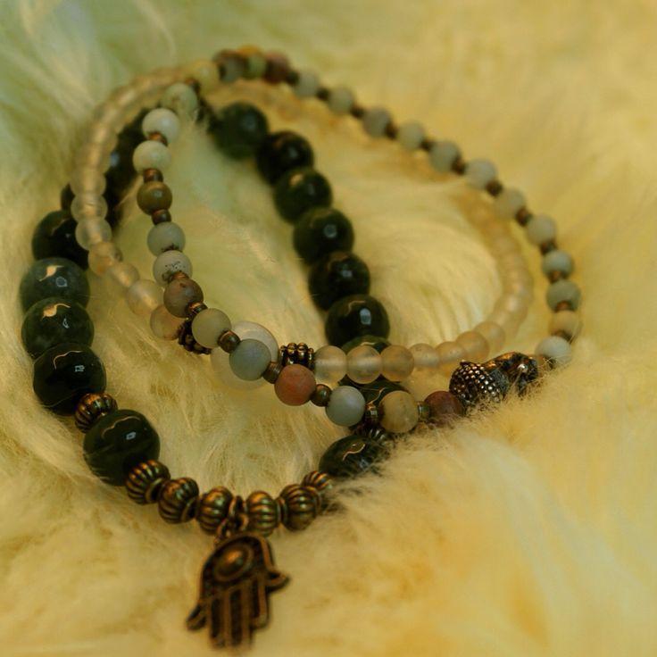 Malabead bracelet, multicolor amazonite