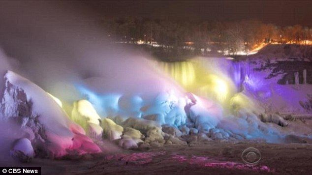 Ta-da!A ceremony was held Thursday night to unveil the $4 million dollar LED lighting display, which projects from Canada across the river and onto both the American and Horseshoe falls
