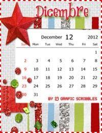 Grafic Scribbles: 4 Calendari-mese di Dicembre, free download