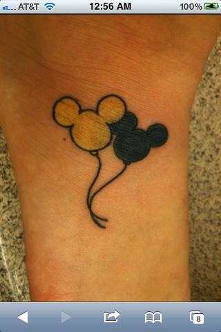 Disney balloon tattoo that was in my dream, literally