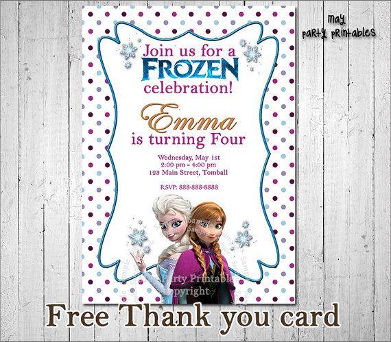 Disney Frozen Invitation Frozen Invitation by MayPartyPrintables, $7.00