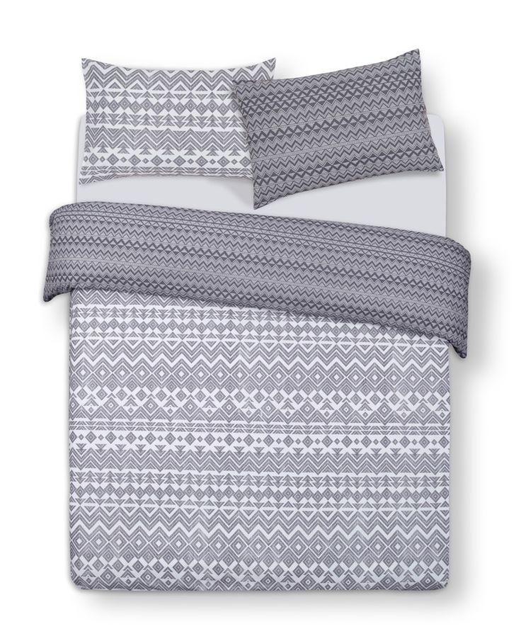 primark grey print king size duvet cover