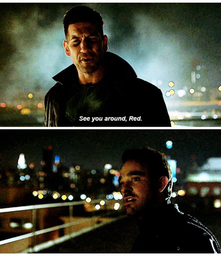 Punisher See you around Red daredevil season 2