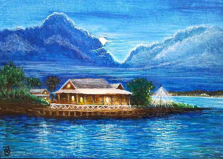 A Malaysian House at the Strait of Malacca by WindowOfArt on Etsy