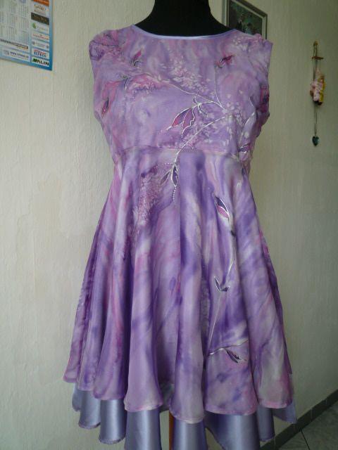 silk dress (hand painted)