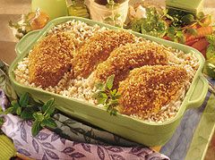 Campbell's chicken and rice bake
