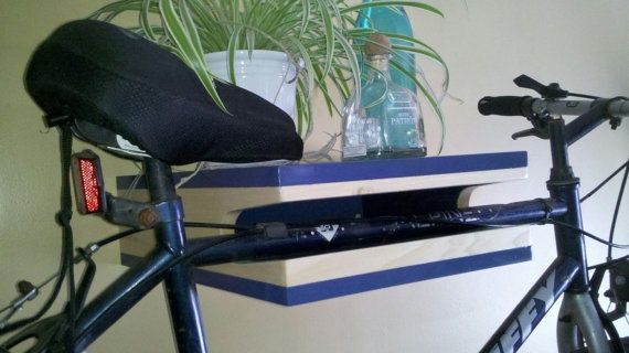 Bike Shelf by CentralArtMarket on Etsy, $125.00