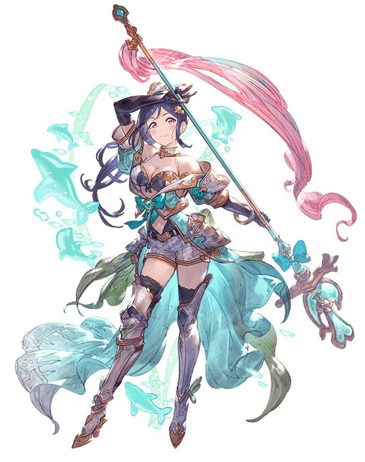 Kanan Matsuura Character Art from Granblue Fantasy #art #artwork #gaming #videog…