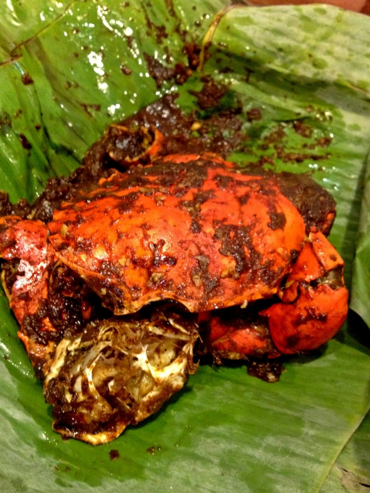 "Indonesian food! ""Smoked Crab"""