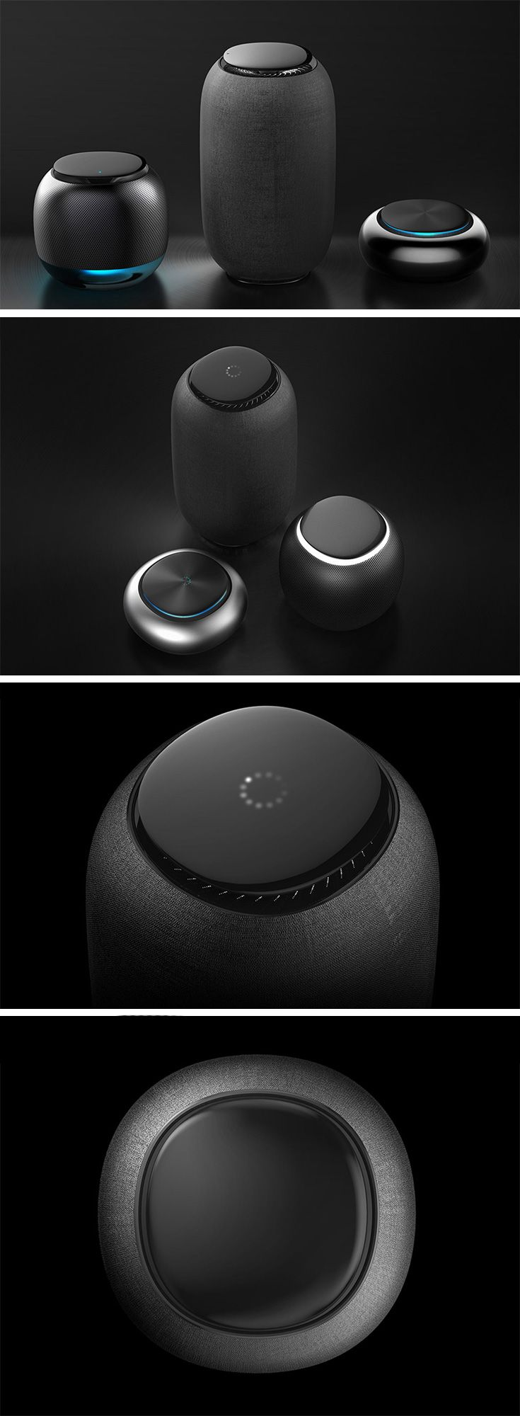 If your Alexa device looks a little too gadgety for your taste, you might like O-JIA. The Alexa-compatable series features 3 distinct shapes and sizes designed with a softer, more elegant aesthetic. No messy buttons or big logos, they're clean and smooth with an intuitive touch-pad interface on top.