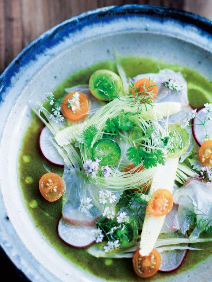 パクチーのドレッシングで野菜と魚をおいしく! 『ELLE a table』はおしゃれで簡単なレシピが満載!