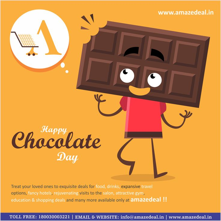 #Happy_Chocolate_Day  Treat your #loved ones to exquisite deals for food, drinks, expansive travel options, fancy #hotels, rejuvenating visit to the #salon, attractive gym, education & #Shooping   deals and many more available only at +Amaze Deal   !!  For #Exciting #Deals Visit - www.amazedeal.in   #Amazedeal #Chandigarh #Panchkula #Mohali #Zirakpur #Deals #offer #valentinesday2016 #valentine   #Chocolateday