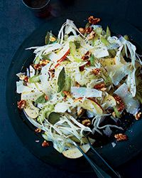 Celery, Fennel and Apple Salad with Pecorino and Walnuts Recipe with lemon vinaigrette on Food & Wine